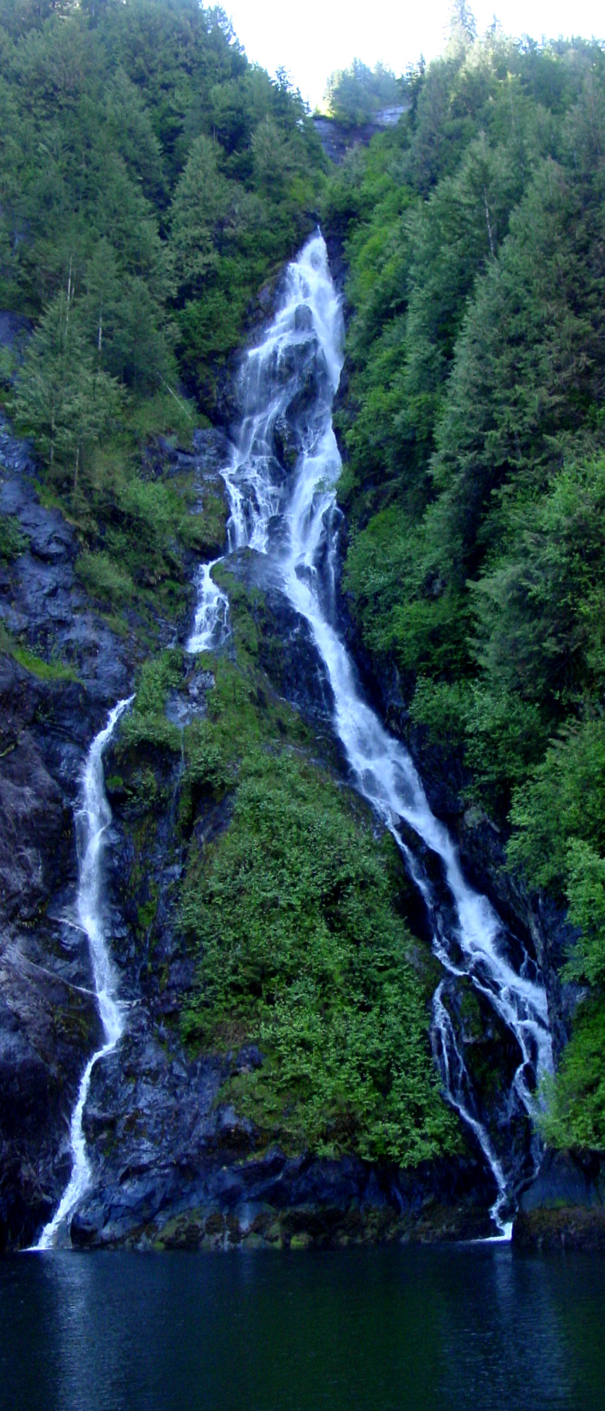 Waterfall in Misty Fjords